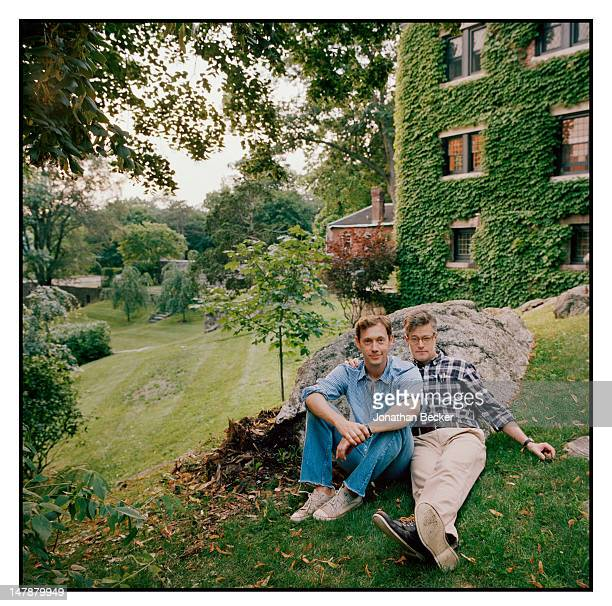 Will Russell, a Christie's sculpture specialist and Rob McQuilkin, a literary agent are photographed for Town & Country Magazine on September 8, 2011...