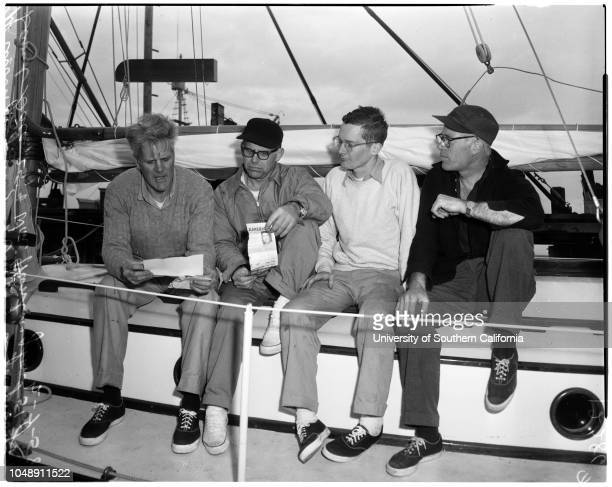 Will sail on ketch to bomb area 7 February 1958 George Willoughby 43 yearsDavid Gale 25 yearsWilliam Huntington 51 yearsAlbert Bigelow 51 years30foot...