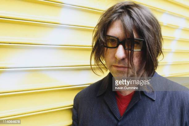 Will Sargeant of the British postpunk band Echo And The Bunnymen at a photoshoot circa 1992