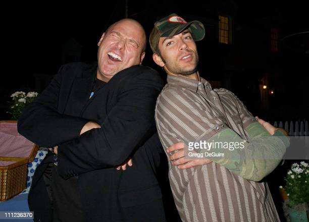 Will Sasso and Zachary Levi during 2005 ABC Winter Press Tour Party Party at Universal Studios in Universal City California United States