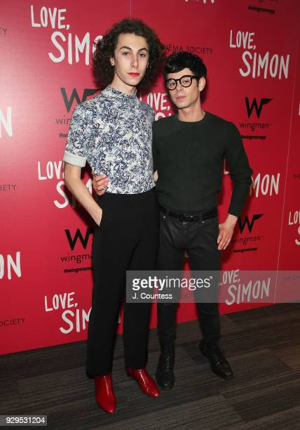 Will Sennett and actor Paul Iacono pose for a photo at the screening of 'Love Simon' hosted by 20th Century Fox Wingman at The Landmark at 57 West on...