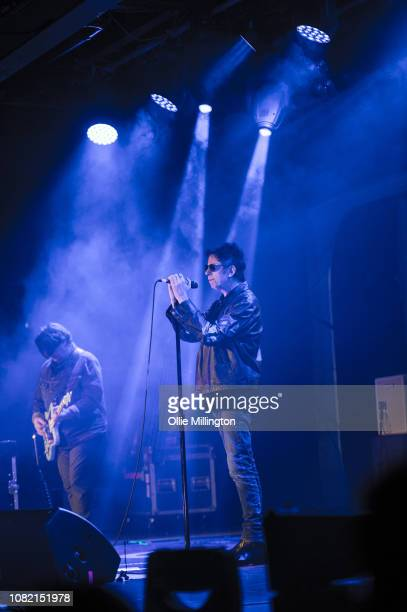 Will Sergeant and Ian McCulloch of Echo The Bunnymen perform onstage headling day 2 of Rockaway Festival 2019 at Butlins on January 12 2019 in Bognor...