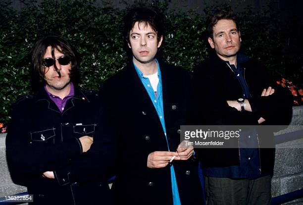 Will Sergeant Ian McCulloch and Les Pattinson of Echo the Bunnymen pose at Live 105's BFD 1997 at Shoreline Amphitheatre on June 13 1997 in Mountain...