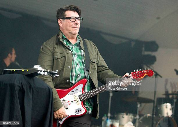 Will Sergeant of Echo the Bunnymen performs at Kelvingrove Bandstand on August 15 2015 in Glasgow Scotland