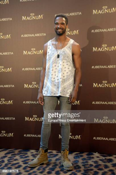 Will Sheppard attends the Magnum new campaign presentation party at the Palacete de Fortuny on June 14 2017 in Madrid Spain