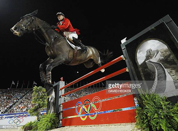 US Will Simpson rides with Carlsson vom Dach in the final round Jumping Individual of the 2008 Beijing Olympic Games on August 18 2008 in Beijing 51...