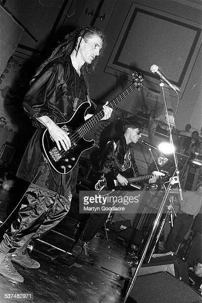 Will Sinnott and Colin Angus of The Shamen perform on stage in Aberdeen Scotland United Kingdom 1990