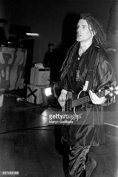 Will Sinnott of The Shamen performs on stage in Aberdeen, Scotland, United Kingdom, 1990.