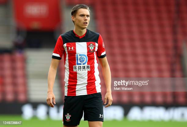 Will Smallbone of Southampton during a friendly match between Southampton FC and Bristol City ahead of the Premier League restart at St Mary's...