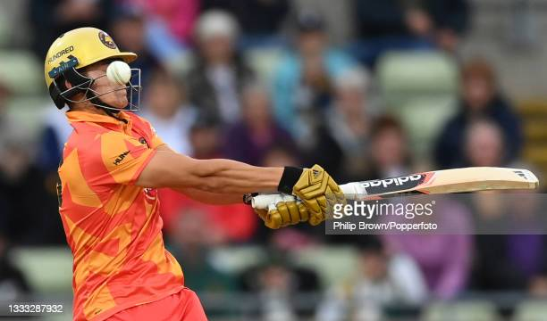 Will Smeed of Birmingham Phoenix avoids a ball during The Hundred match between Birmingham Phoenix Men and Welsh Fire Men at Edgbaston on August 09,...