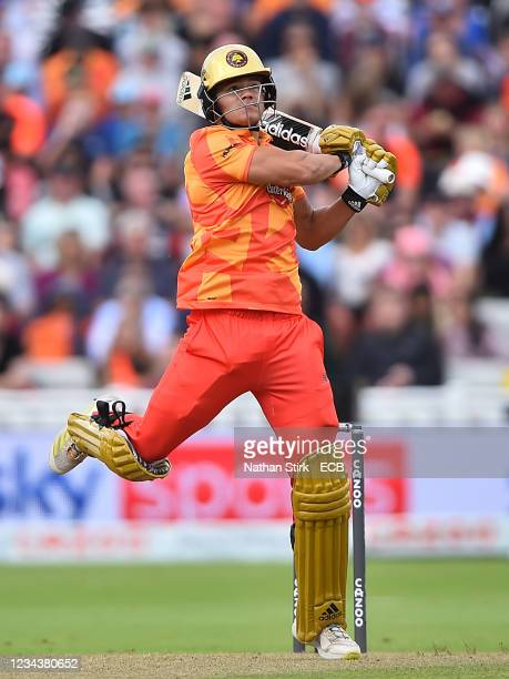 Will Smeed of the Birmingham Phoenix in action during The Hundred match between Birmingham Phoenix Men and Trent Rockets Men at Edgbaston on August...
