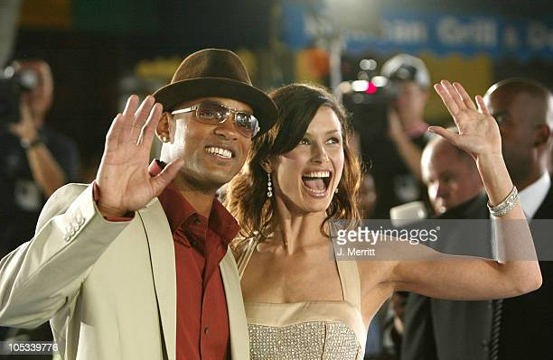 Will Smith and Bridget Moynahan during I ROBOT World Premiere Arrivals at Mann Village Theatre in Westwood California United States