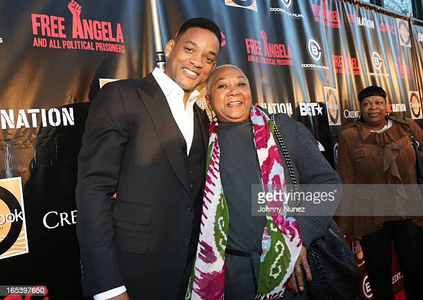 "Will Smith and Caroline Bright Smith attend the ""Free Angela and All Political Prisoners"" New York Premiere at The Schomburg Center for Research in..."