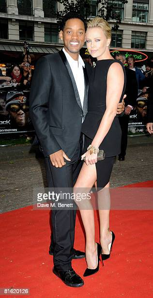 TIME Will Smith and Charlize Theron arrive at the UK film premiere of 'Hancock' at Vue Cinema Leicester Square on June 18 2008 in London England