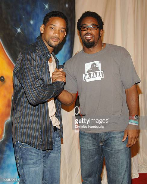 Will Smith and Dhani Jones during LIVE 8 Philadelphia Will Smith Celebrates LIVE 8 With a PreLaunch Party at 23rd Street Armory in Philadelphia...