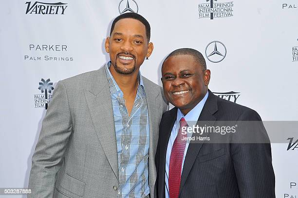 Will Smith and Dr Bennet Omalu attend Variety's Creative Impact Awards and 10 Directors To Watch Brunch at the Parker Palm Springs on January 3 2016...