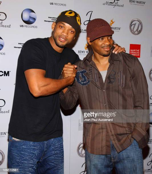 "Will Smith and Duane Martin during Usher's 25th Birthday Bash ""Flashback 1978"" - Arrivals at Pearl in West Hollywood, California, United States."