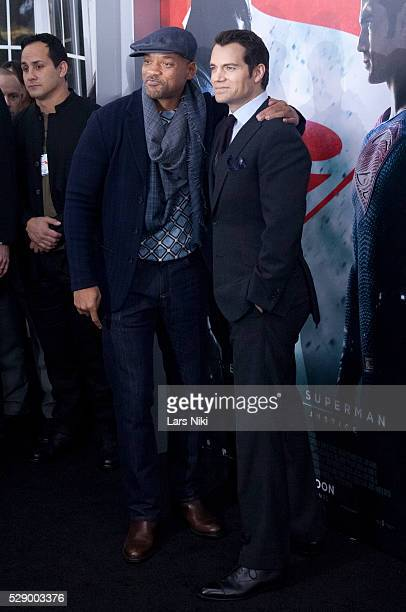 """Will Smith and Henry Cavill attend the """"Batman V Superman: Dawn Of Justice"""" New York Premiere at Radio City Music Hall in New York City. �� LAN"""