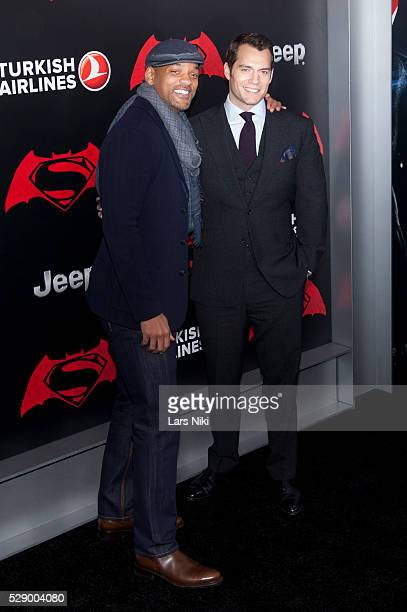 "Will Smith and Henry Cavill attend the ""Batman V Superman: Dawn Of Justice"" New York Premiere at Radio City Music Hall in New York City. �� LAN"