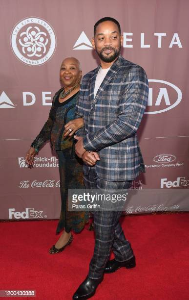 Will Smith and his mother, Caroline Bright arrive at 2020 Salute to Greatness Awards Gala at Hyatt Regency Atlanta on January 18, 2020 in Atlanta,...