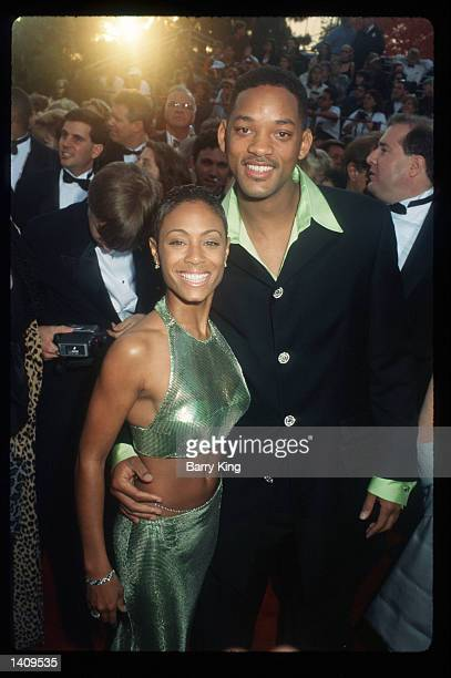 Will Smith and Jada Pinkett attend the 69th Annual Academy Awards ceremony March 24 1997 in Los Angeles CA