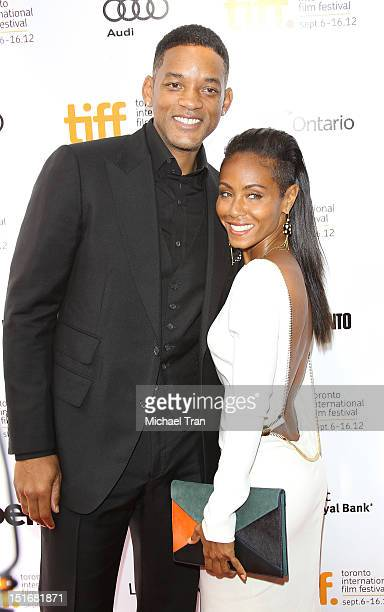 Will Smith and Jada Pinkett Smith arrive at Free Angela All Political Prisoners premiere during the 2012 Toronto International Film Festival held at...