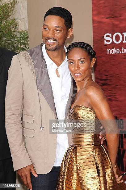 Will Smith and Jada Pinkett Smith arrive at The Karate Kid Los Angeles premiere held at Mann Village Theatre on June 7 2010 in Westwood California