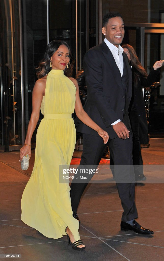 Will Smith and Jada Pinkett Smith as seen on April 3, 2013 in New York City.