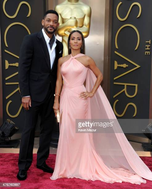Will Smith and Jada Pinkett Smith attend the Oscars held at Hollywood Highland Center on March 2 2014 in Hollywood California