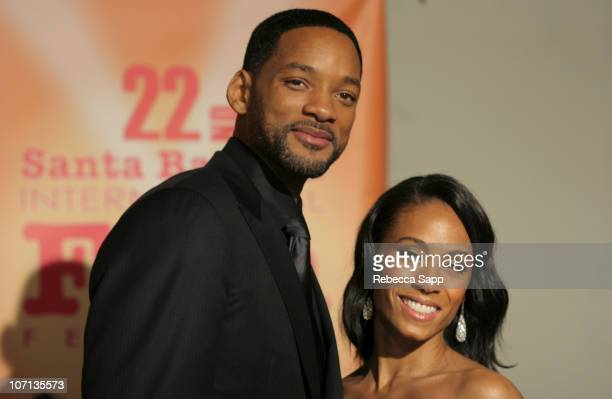 Will Smith and Jada Pinkett Smith during 22nd Annual Santa Barbara International Film Festival Will Smith Honored With The Modern Master Award...