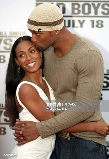 Will Smith and Jada Pinkett Smith during Bad Boys II World Premiere at Mann Village in Westwood California United States