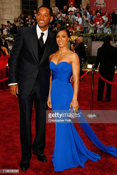 Will Smith and Jada Pinkett Smith during The 78th Annual Academy Awards – Arrivals at Kodak Theatre in Hollywood California United States