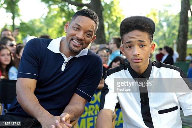 AMERICA Will Smith and Jaden Smith are guests on 'Good Morning America' 5/31/13 airing on the ABC Television Network WILL