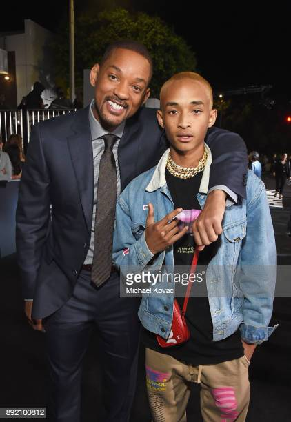 Will Smith and Jaden Smith attend the LA Premiere of Netflix Films 'BRIGHT' on December 13 2017 in Los Angeles California