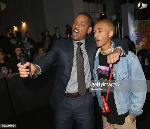 Will Smith and Jaden Smith attend the Premiere Of Netflix's 'Bright' at Regency Village Theatre on December 13 2017 in Westwood California