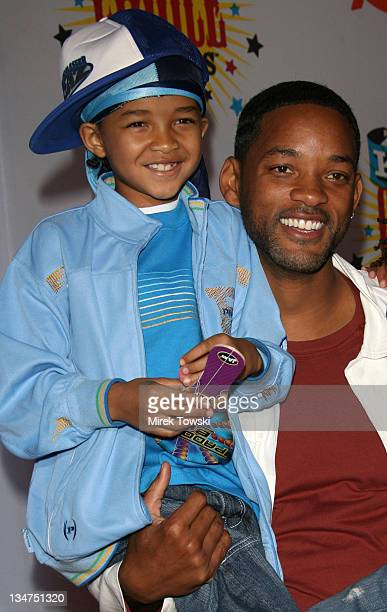 Will Smith and Jaden Smith during Nickelodeon's 19th Annual Kids' Choice Awards Arrivals at Pauley Pavilion in Westwood CA United States