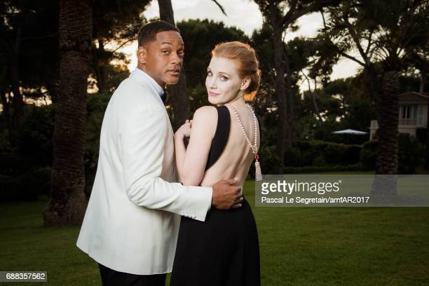 Will Smith and Jessica Chastain attends the amfAR Gala Cannes 2017 at Hotel du CapEdenRoc on May 25 2017 in Cap d'Antibes France
