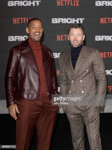 Will Smith and Joel Edgerton attend the European Premeire of 'Bright' held at BFI Southbank on December 15 2017 in London England