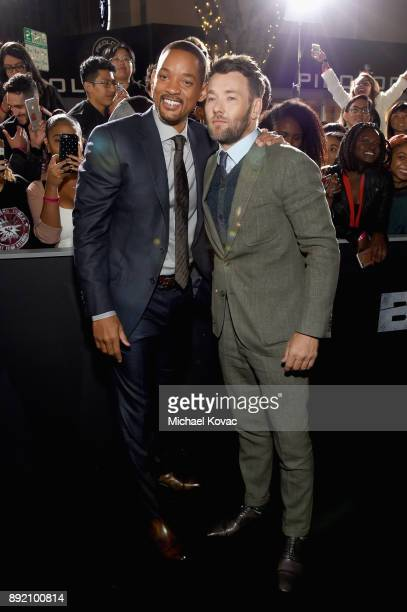 Will Smith and Joel Edgerton attend the LA Premiere of Netflix Films 'BRIGHT' on December 13 2017 in Los Angeles California