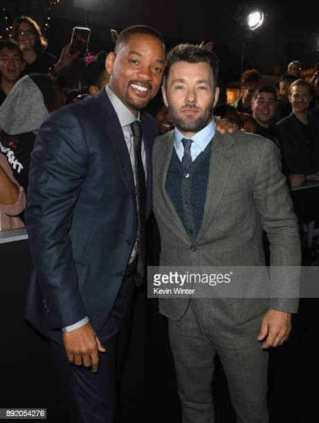 Will Smith and Joel Edgerton attend the Premiere Of Netflix's 'Bright' at Regency Village Theatre on December 13 2017 in Westwood California