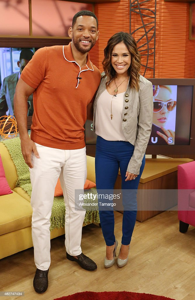 Celebrities On The Set Of Despierta America - February 4, 2015