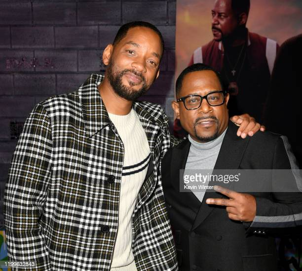 Will Smith and Martin Lawrence arrive at the premiere of Columbia Pictures' Bad Boys For Life at TCL Chinese Theatre on January 14 2020 in Hollywood...