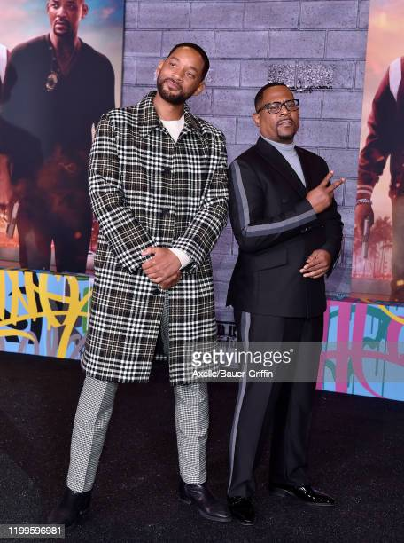 Will Smith and Martin Lawrence attend the Premiere of Columbia Pictures' Bad Boys for Life at TCL Chinese Theatre on January 14 2020 in Hollywood...