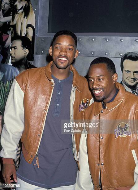 Will Smith and Martin Lawrence during Donation of Props from Bad Boys at Planet Hollywood in Miami Florida United States
