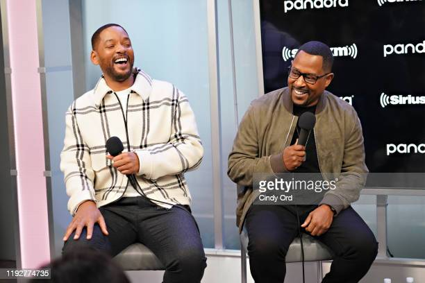 Will Smith and Martin Lawrence speak during SiriusXM's Town Hall with the cast of 'Bad Boys For Life' hosted by SiriusXM's Sway Calloway at the...