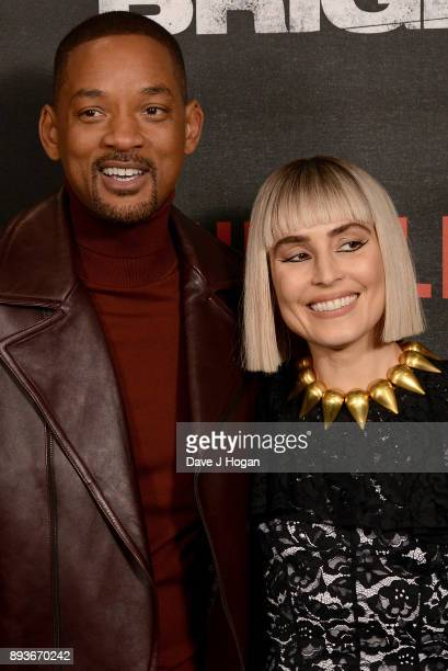 Will Smith and Noomi Rapace attend the European Premiere of 'Bright' held at BFI Southbank on December 15 2017 in London England