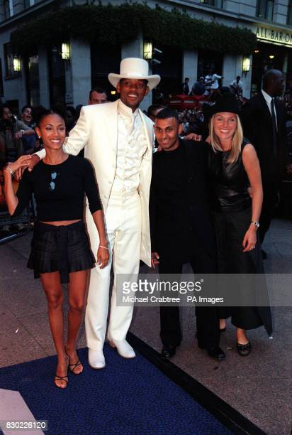 Will Smith and UK Boxer Prince Naseem attend the UK film premiere of Wild Wild West at the Odeon West End Cinema Leicester Square London