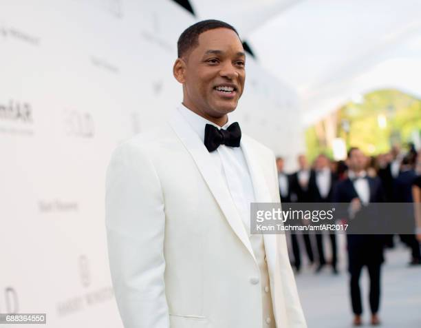 Will Smith arrives at the amfAR Gala Cannes 2017 at Hotel du CapEdenRoc on May 25 2017 in Cap d'Antibes France