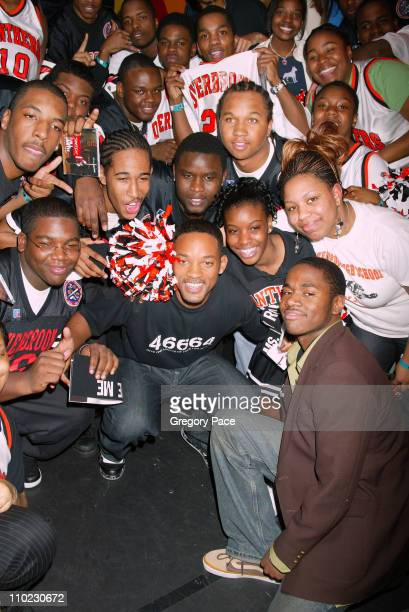 Will Smith at MTV's 'TRL School'd Week' with students from his old high school Overbrook High School Philadelphia PA who were part of the special...
