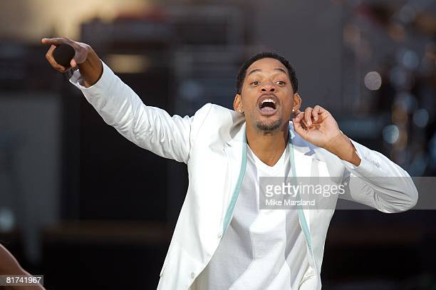 Will Smith at the 46664 Concert, part of Nelson Mandela's 90th birthday celebrations on June 27, 2008 in Hyde Park, London.